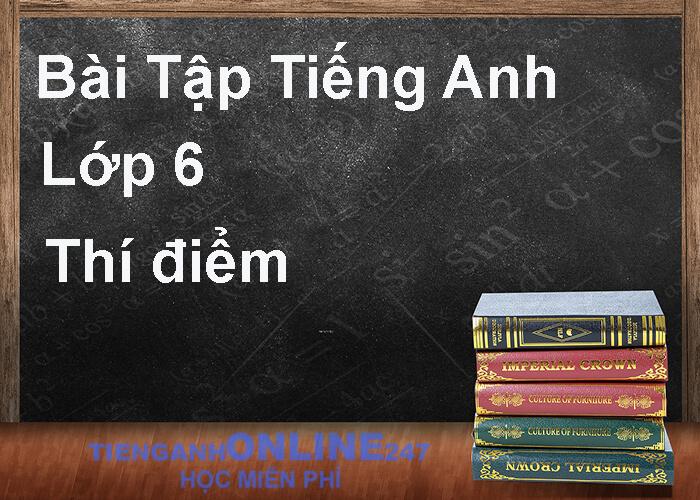 Bài tập tiếng Anh 6 thí điểm