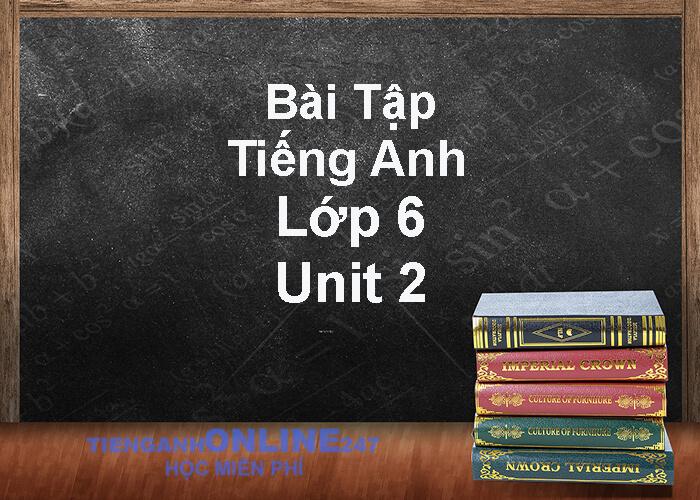 bài tập tiếng anh lớp 6 unit 2