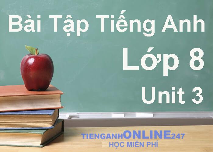Bài tập tiếng Anh lớp 8 unit 3