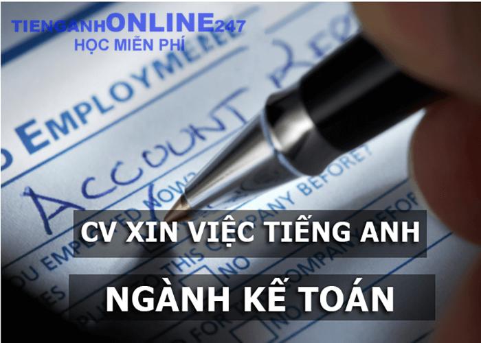 CV xin việc bằng tiếng Anh ngành kế toán