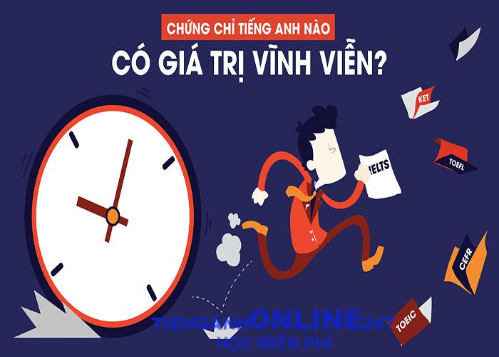 Các loại chứng chỉ tiếng Anh quốc tế tại Việt Nam